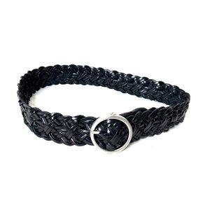 LOFT | Braided Genuine Leather Waist Belt Sz S